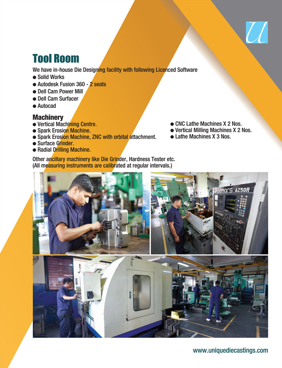 Welcome to Unique Diecasting Products Pvt Ltd  ::